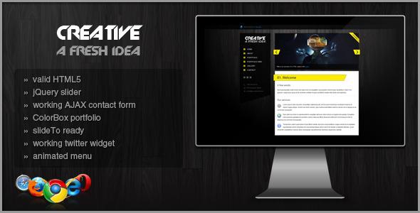 CREATIVE | HTML/CSS PORTFOLIO TEAMPLATE