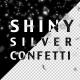 Shiny Silver Confetti