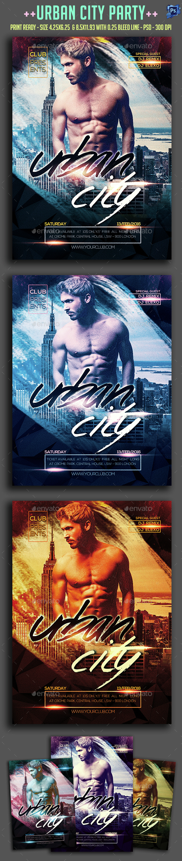 Urban City Party Flyer