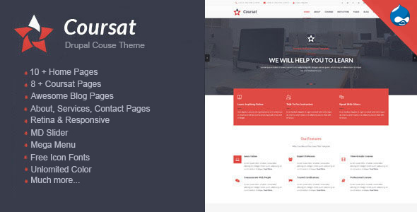 Image of Coursat - Multipurpose Education Drupal Theme