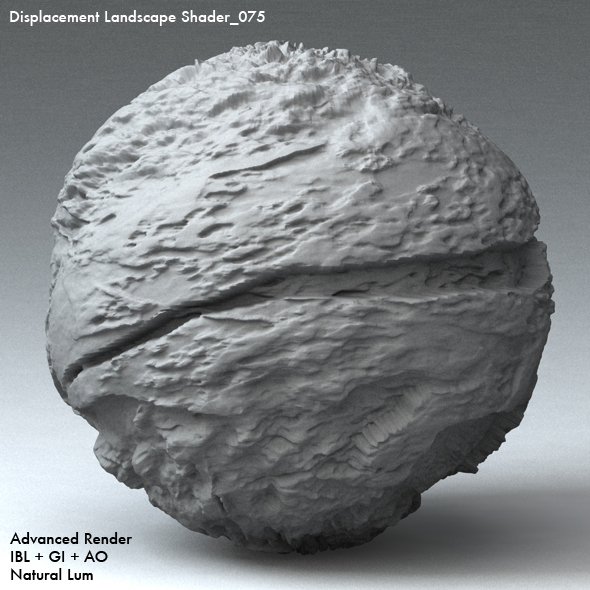 Displacement Landscape Shader_075 - 3DOcean Item for Sale