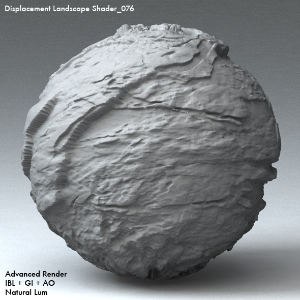 Displacement Landscape Shader_076 - 3DOcean Item for Sale