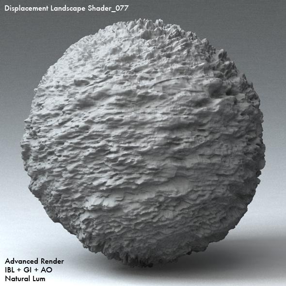 Displacement Landscape Shader_077 - 3DOcean Item for Sale