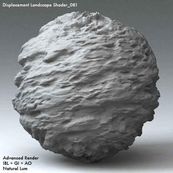Displacement Landscape Shader_081 - 3DOcean Item for Sale