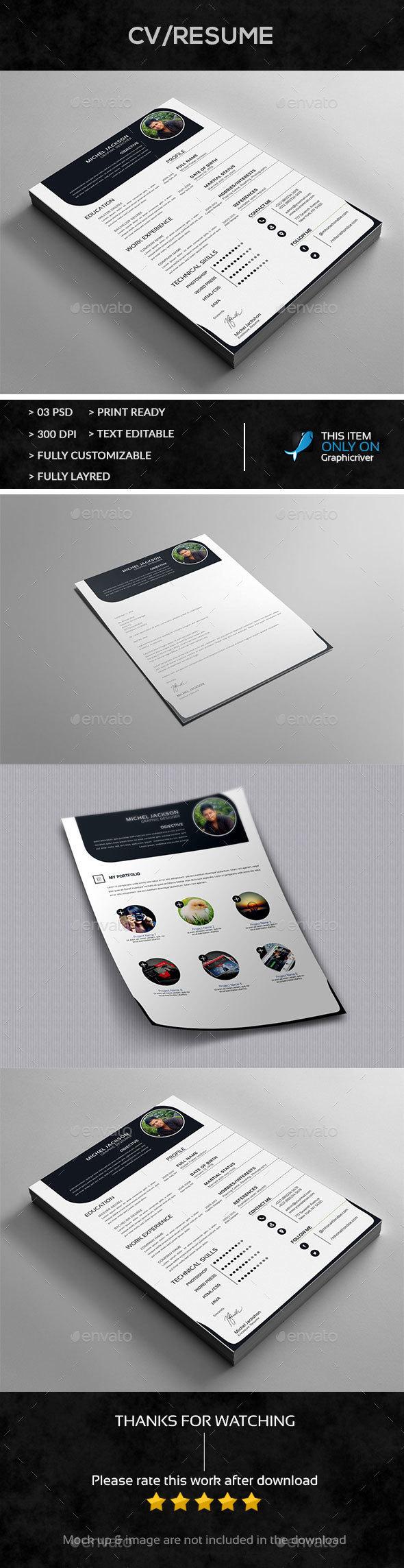Resume + Cover Letter + Portfolio