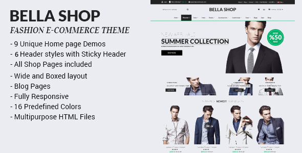 Bella Shop - Commerce Shop Drupal Theme