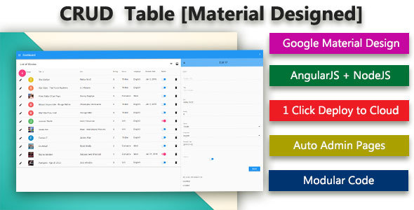 Database CRUD Generator – Material Designed (Database Abstractions) Download