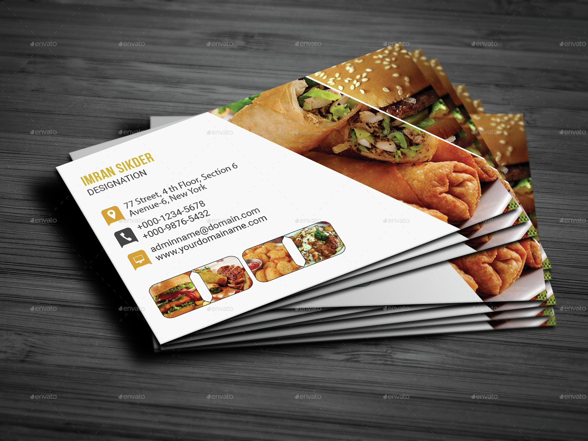 Restaurant Business Card by deviserpark : GraphicRiver