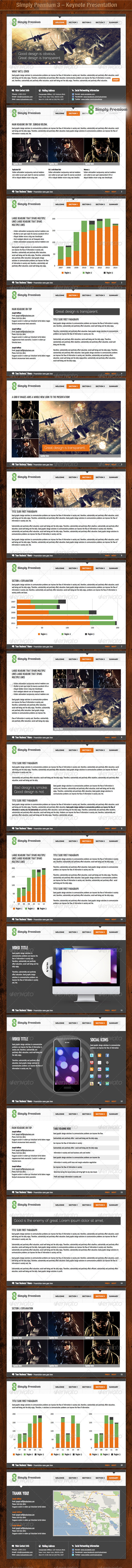 Simply Premium 3 – Keynote Presentation - Business Keynote Templates
