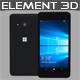 Element3D – Microsoft Lumia 550 Black