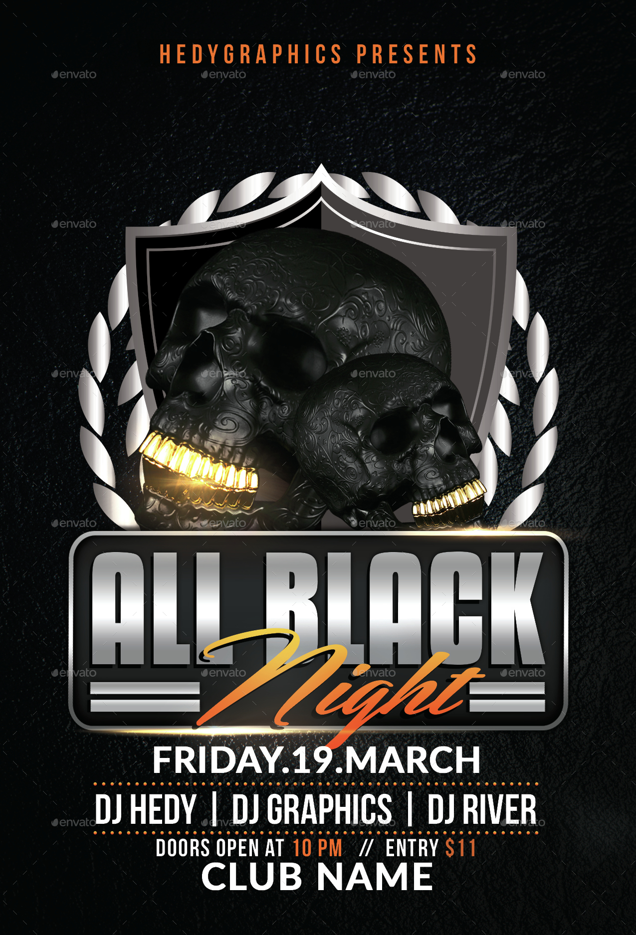 all black night