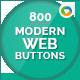 Modern Web Buttons - 800 Buttons