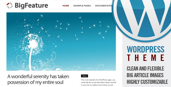 Theme para WordPress Big Feature