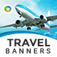 HTML5 Travel & Tourism Banners - GWD - 7 Sizes