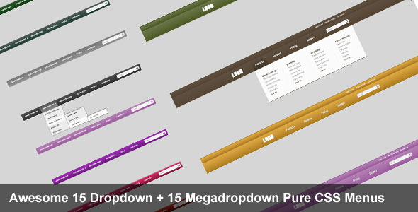 Awesome dropdown and megadropdown CSS3 menus