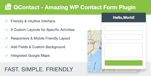 qContact Form Builder – WordPress contact page