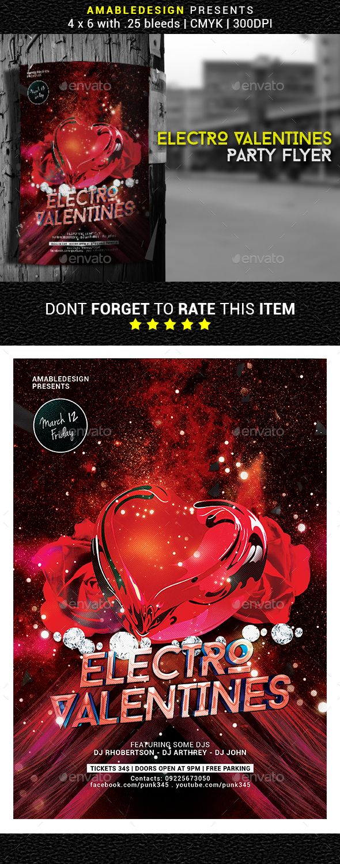 Electro Valentines Party Flyer