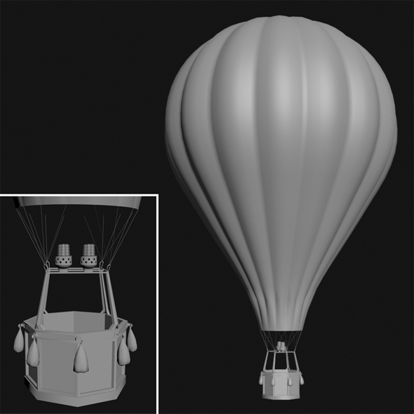 3DOcean Hot Air Balloon 14631892