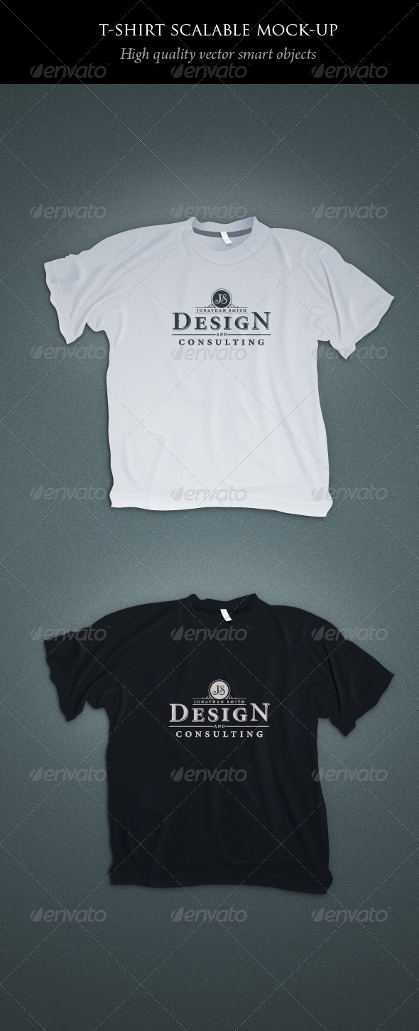 Scalable T-shirt Mockups - T-shirts Apparel
