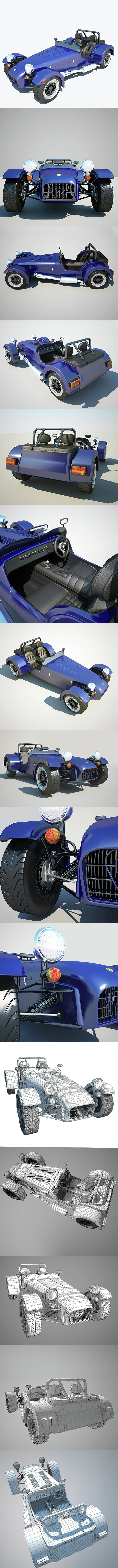 Caterham Super Seven 1953 Lotus - 3DOcean Item for Sale