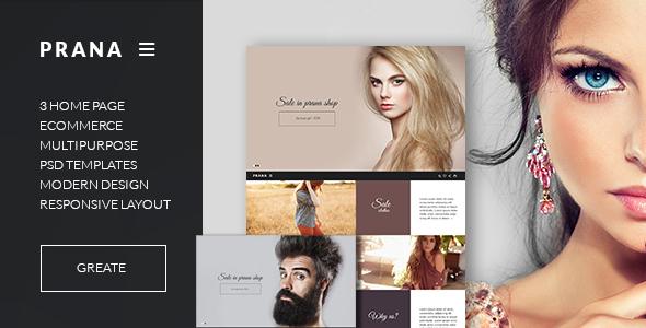 Prana - Fashion Clothes eCommerce Template HTML5