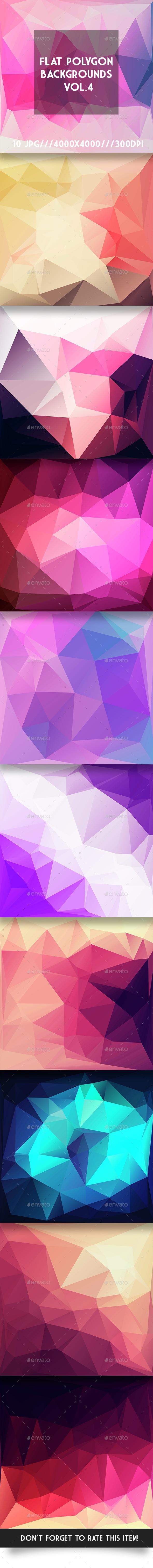 Flat Polygon Backgrounds Vol.4