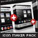Icon Maker Pack: Buttons, Spheres, Rounded Icons - GraphicRiver Item for Sale