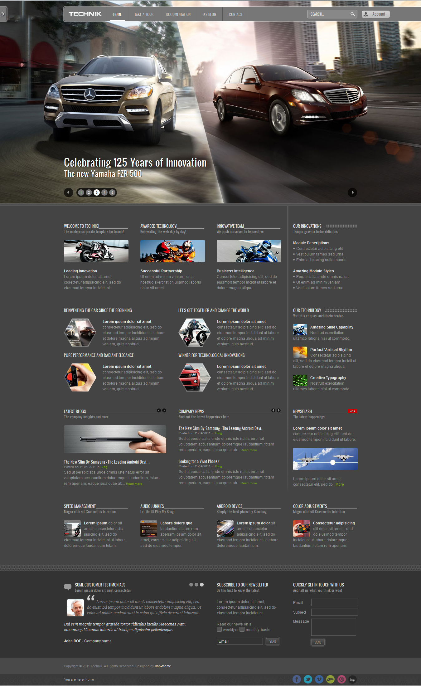 Technik - Modern Corporate Template for Joomla!
