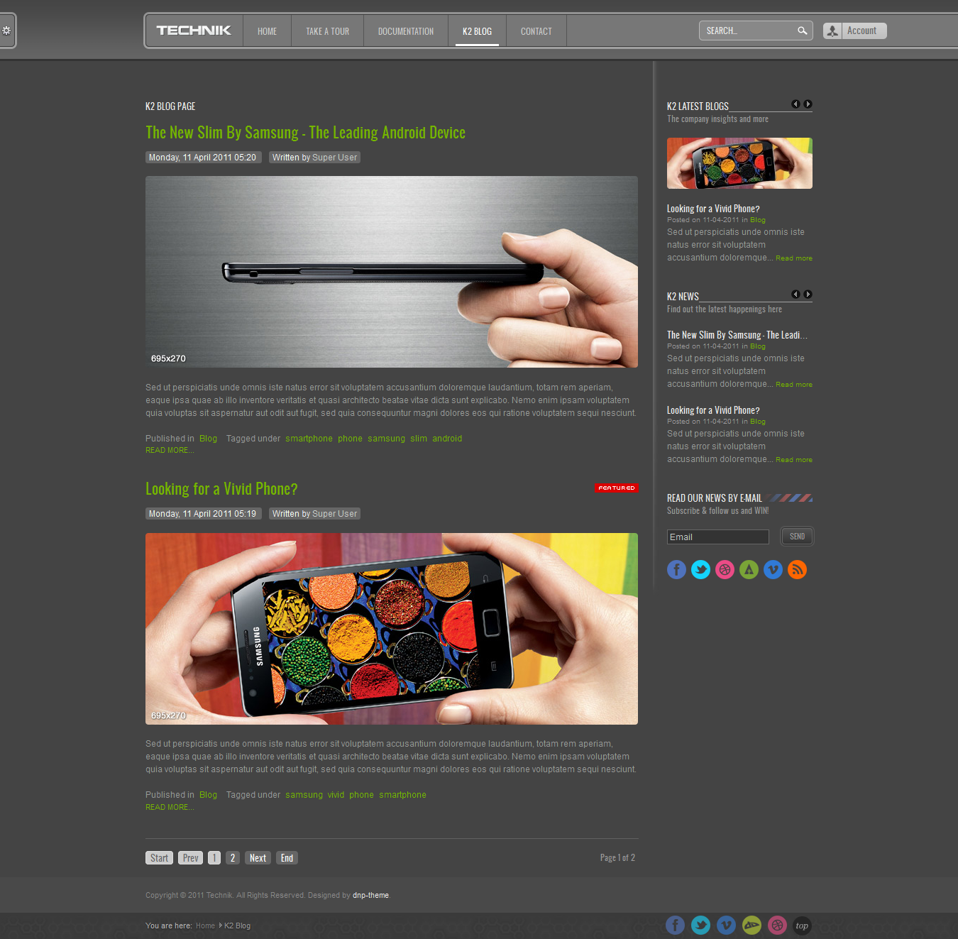 Technik - Modern Corporate Template for Joomla!