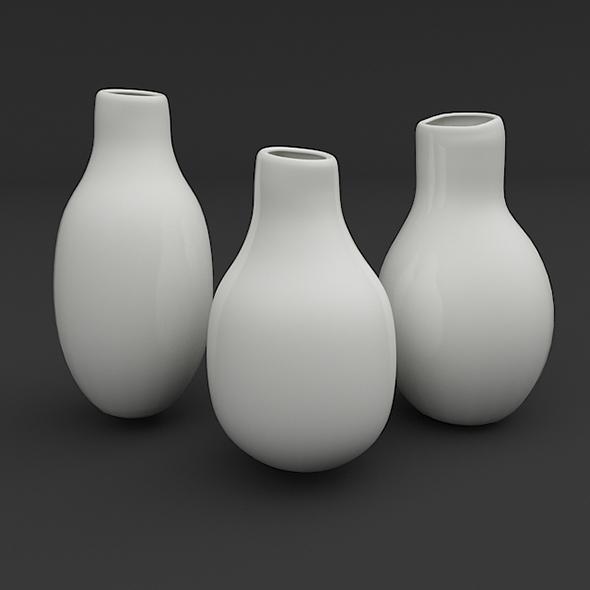 Designer Vase Set - 3DOcean Item for Sale