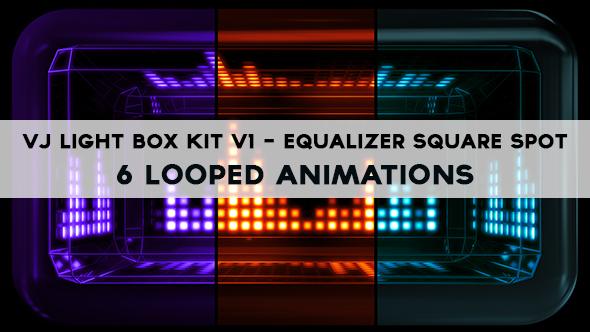 Vj Light Box Kit V1 - Circular Patern Square Spot Pack - 5