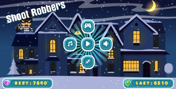 Shoot Robbers - HTML5 Game, Mobile Version + AdMob (Construct-2 CAPX)