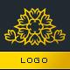 Thorn Flower Logo Template