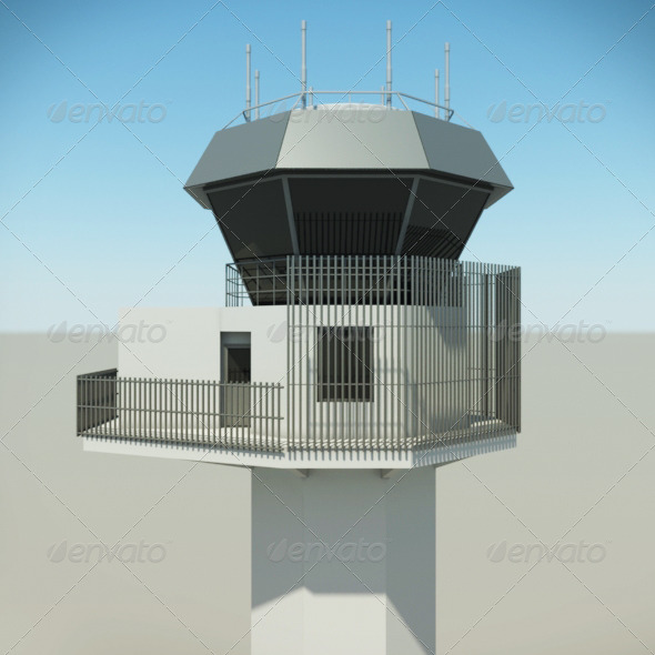 Airport Control Tower - 3DOcean Item for Sale