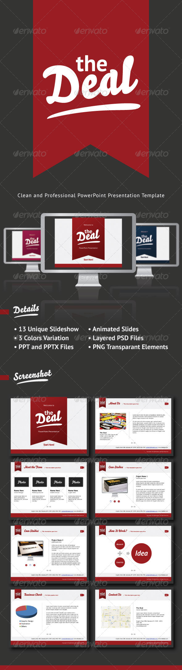 GraphicRiver The Deal Clean and Simple PowerPoint Template 1464288