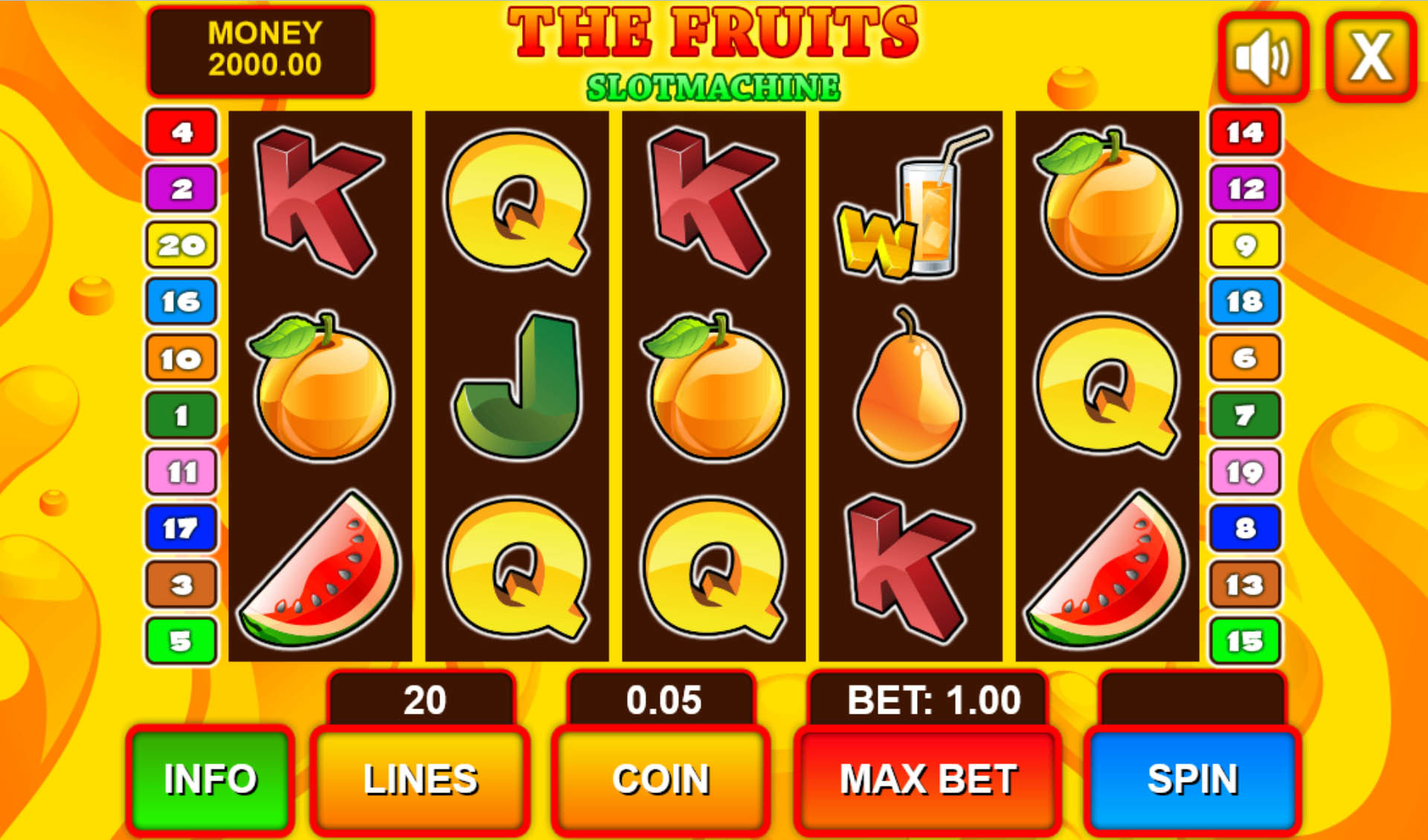 fruits slots game free