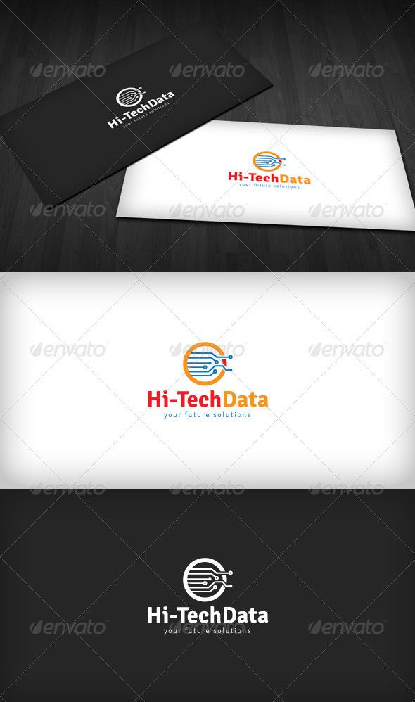 Graphic River Hi-Tech Data Logo Logo Templates -  Abstract  Vector 1464541