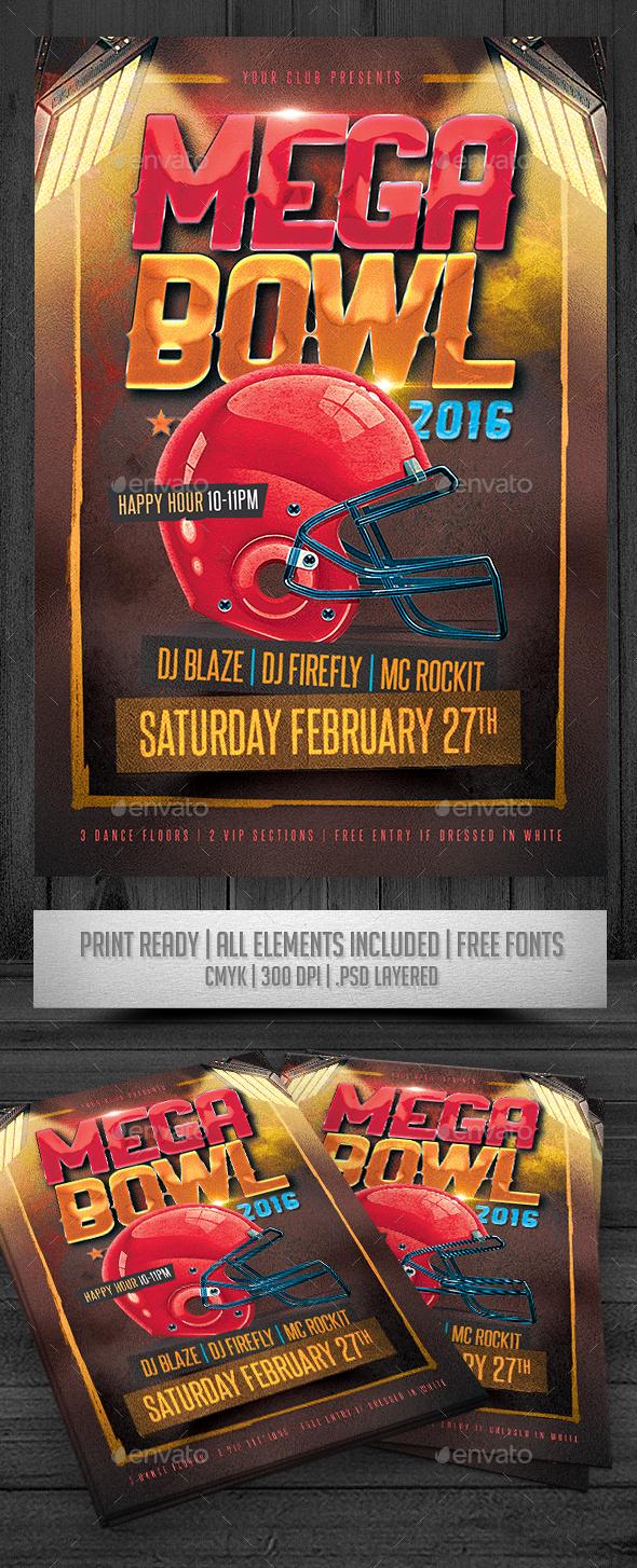Mega Bowl 2016 Flyer