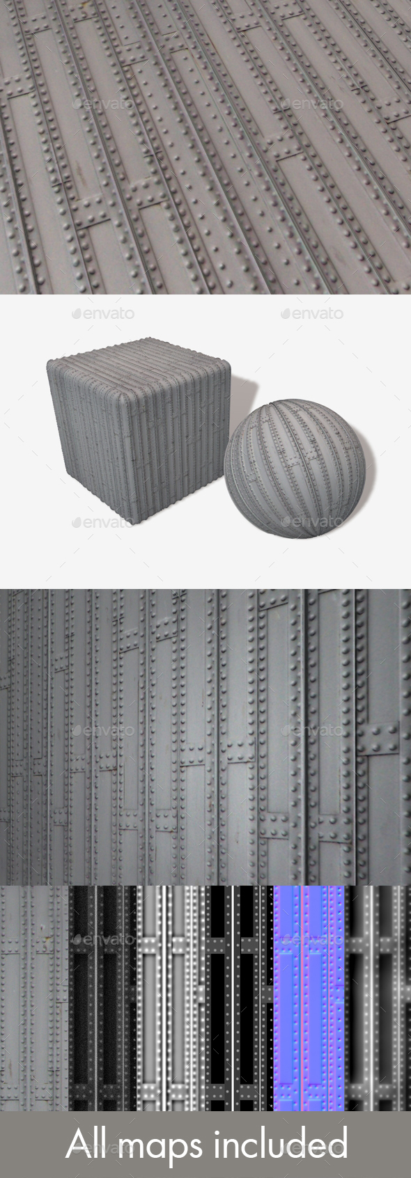 Metal Grid Seamless Texture - 3DOcean Item for Sale