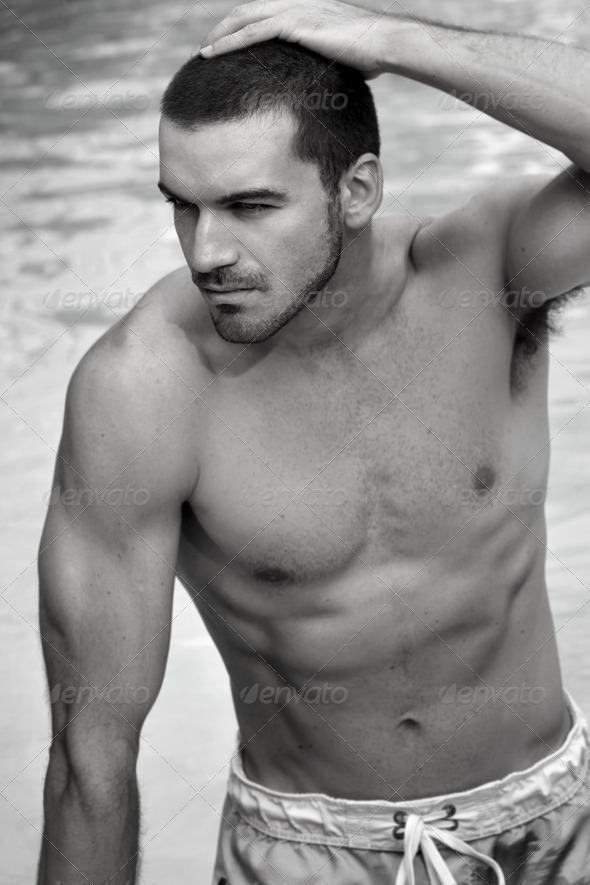 Shirtless man - Stock Photo - Images