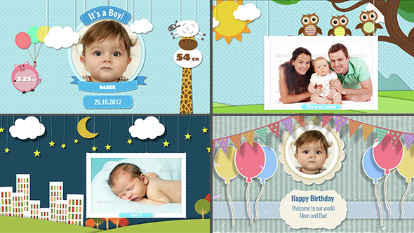 Baby Photo Album – Birthday (Kids) After Effects Templates | F5 ...