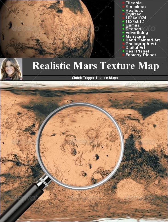 3DOcean Mars Texture Map 1465032