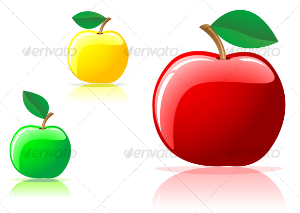 Three appetizing apples - Food Objects