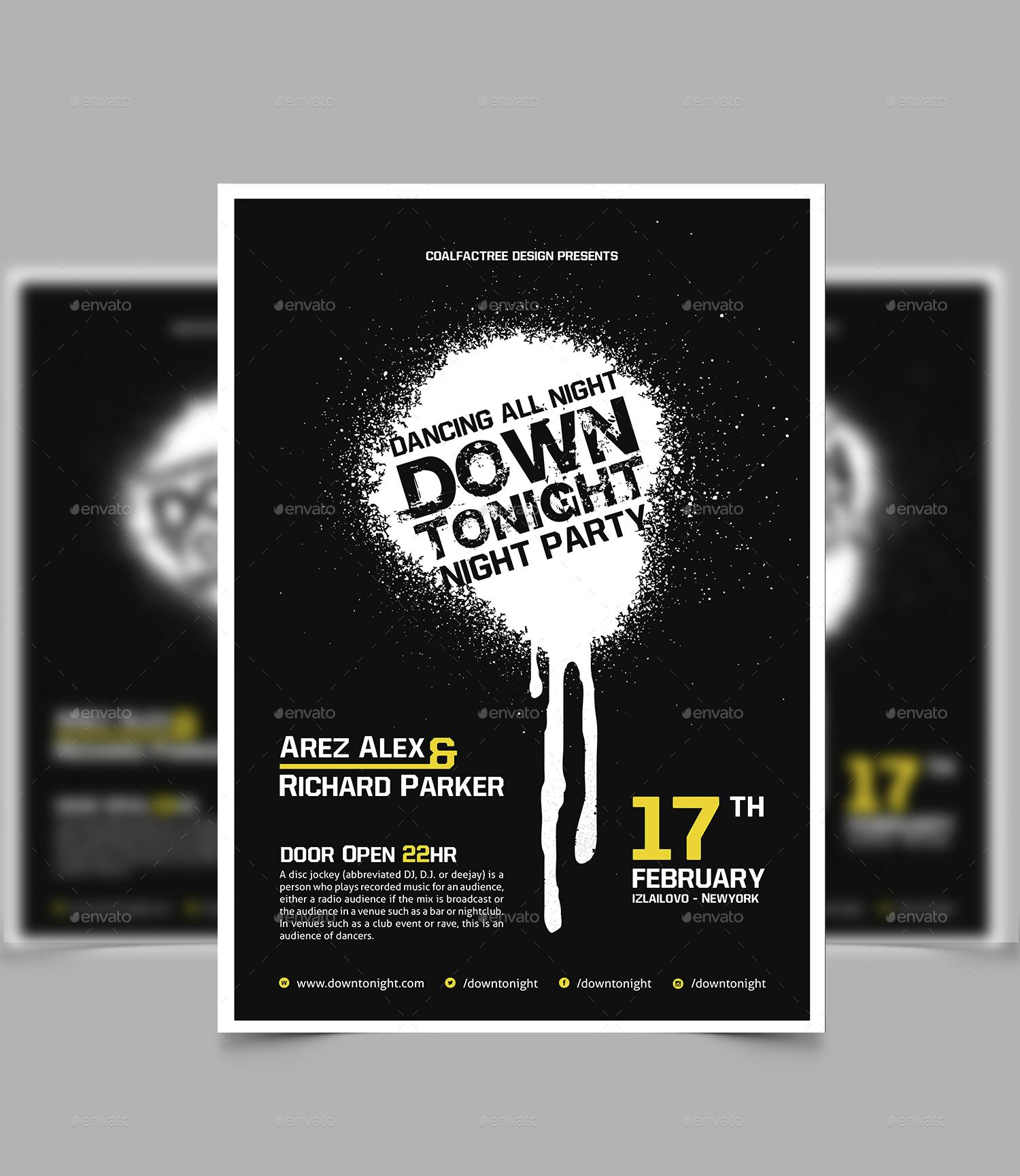 Bold Minimalist Game Fest Fest Flyer Template: Minimal Flyer / Poster By Coalfactree