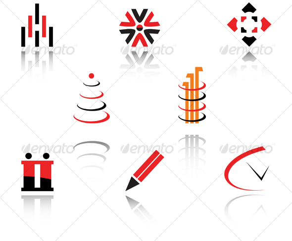 Set of symbols - Decorative Vectors