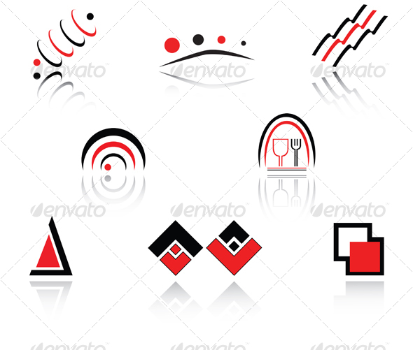 GraphicRiver Set of symbols 57914