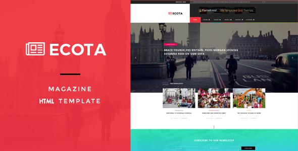 Ecota - Responsive Magazine & News HTML Template