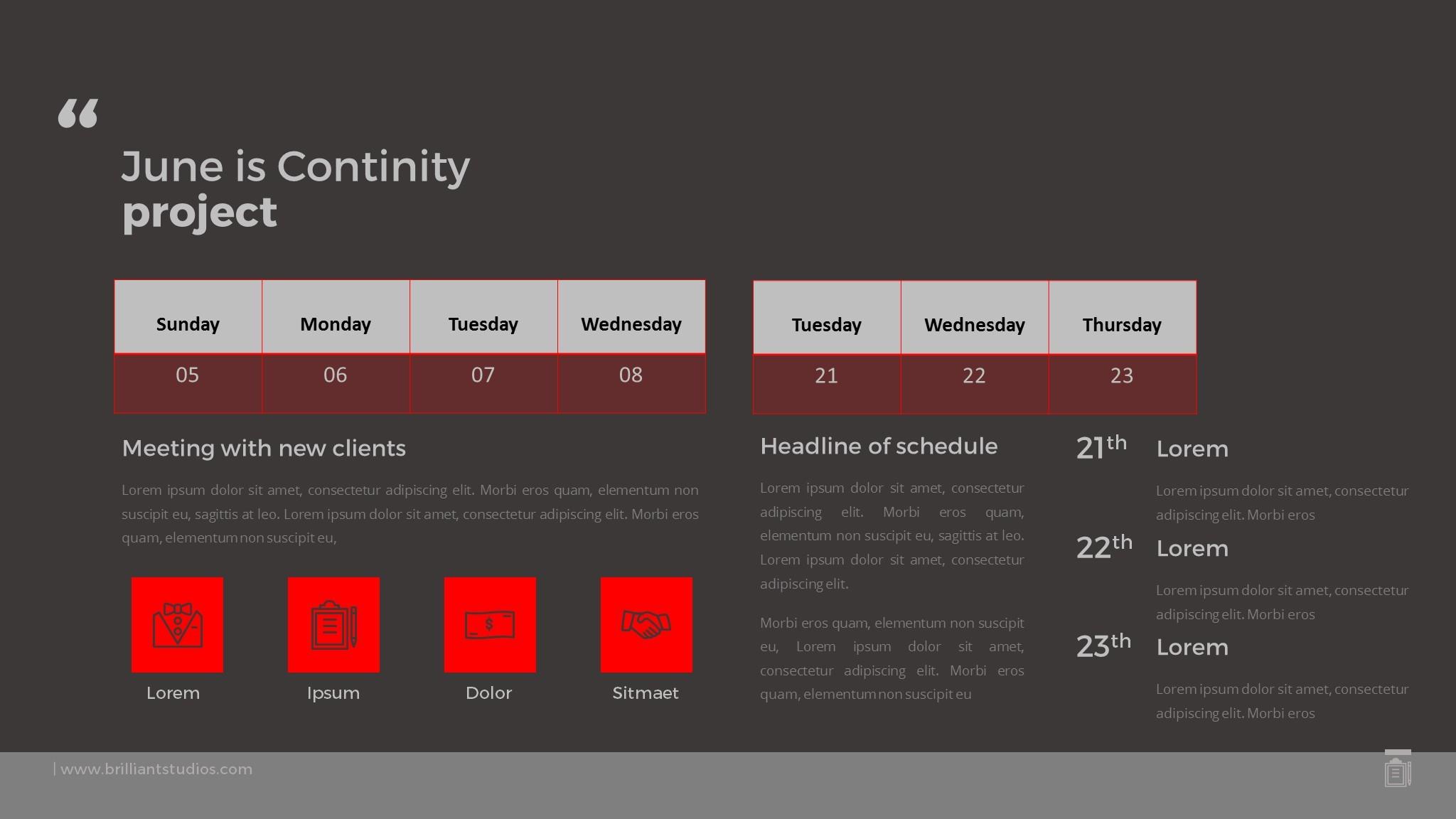 Annual Plan Calendar Schedule 2016 - PowerPoint Template ...