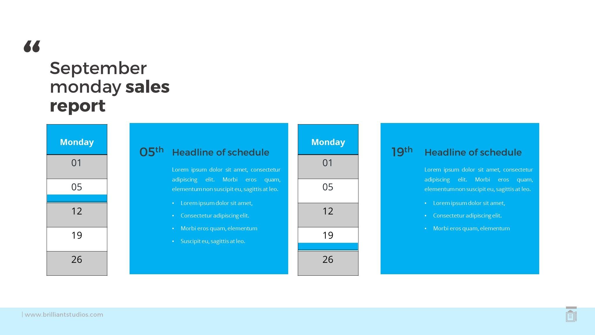 Calendar Schedule Template Powerpoint | Calendar Template 2016