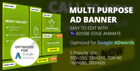 HTML5 Animated Banner Templates | Edge Animate  - CodeCanyon Item for Sale